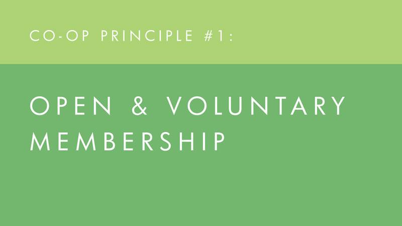 Open & voluntary membership